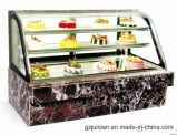Vetrina di lusso della visualizzazione della torta di marmo del doppio arco