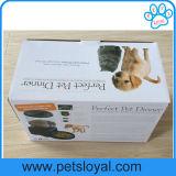 タイマーの自動ペット乾燥した食糧ディスペンサーが付いている自動犬の送り装置