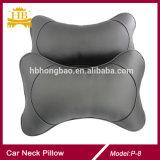 Almohadilla de encargo del cuadrado de la almohadilla del resto del cuello del coche del cuero de la insignia