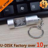 USB luminoso de cristal proeminente do frasco redondo dos presentes da promoção (YT-3270-08L)