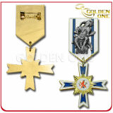 Custom Fine Polished Die Casting Metal Military Medal Badge