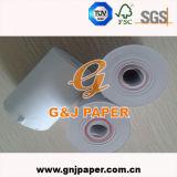 papier thermosensible de taille de 65GSM 57mmx30mm avec la taille du faisceau intérieur 8mm