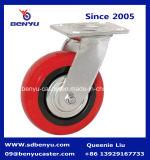HochleistungsRigid Caster mit Red Polyurethane Wheel