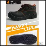 Zapatos de seguridad de cuero industriales con el certificado del Ce (Sn1206)