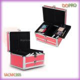 Het roze Aluminium Gepersonaliseerde Geval van de Make-up van de Schoonheid (SACMC005)