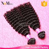 O melhor cabelo Curly Kinky de venda do Virgin malaio do cabelo de 7A Remy empacota (QB-MVRH-BW)