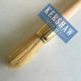 Escova redonda (pincel com o punho branco puro da madeira da cerda e de faia, a escova derrubar-redonda)