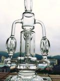 Conduite d'eau en verre de recycleur d'Incycler de chambre de quadruple de Hitman