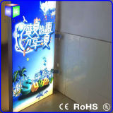 Aluminum Frame LED Backlit Sign를 가진 두 배 Side Fabric LED Light Box Advertizing