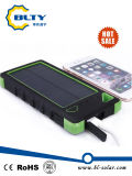 Zonne Lader 6000mAh Dubbele USB Powerbank met LEIDEN Licht
