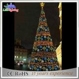 Luz artificial da decoração da árvore de Natal do diodo emissor de luz do triângulo creativo decorativo do festival