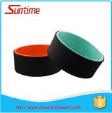 Roue colorée de yoga de forme physique de qualité, rouleau de tube de yoga