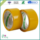 Hellgelbes preiswertes BOPP anhaftendes verpackenband des Fabrik-Preis-
