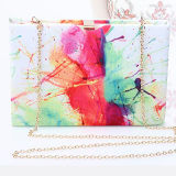 다채로운 여자 꽃 이브닝 백 어깨 상자 지갑 Eb649