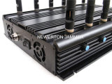 Construtor Desktop estacionário para todo o telemóvel, controlo a distância do jammer de 12 faixas, jammer de VHF/UHF RF/construtor de rádio; Tudo em uns jammer/construtor