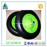 Фабрика Inflatable Pneumatic 3.00-8 360mm Air Rubber Wheel