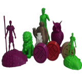 3D filamento plástico para toda la impresora de Fdm 3D, filamento de ABS/PLA/HIPS/PVA/Flexible