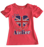 Modo Flag BRITANNICO Letter Girl T-Shirt in Children Clothes Apparel con Print Sgt-072