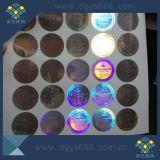 Etiquetas holográficas do melhor efeito adesivo de alta resolução do holograma da segurança