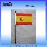 Bandierine promozionali esterne della mano con il bastone di plastica