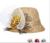 نمط نساء قبعات مع زهرة قبعة
