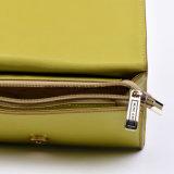 Piccola borsa elegante della frizione del sacchetto di cuoio dell'unità di elaborazione con la stampa del fiore sulla parte anteriore e sulla parte posteriore