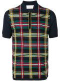 Overhemd van het Polo van het Geruite Schotse wollen stof van mensen het Blauwe MerinosWol Gebreide