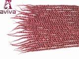24 trecce ignifughe sintetiche dei capelli del Crochet di estensioni 22strands/Piece #350 dei capelli dell'intrecciatura di torsione di Kanekalon dei capelli di pollice
