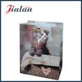 Whosale preiswerter überzogenes Papier-gedruckter Katze-Entwurfs-Einkaufen-Geschenk-Beutel