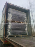 Рельса PVC Китая ограждать орнаментального Coated селитебного черного нанесённого стальной
