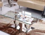簡単な様式のゆとりのガラス上のダイニングテーブル