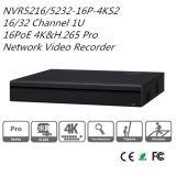 Dahua 16/32CH 1u Netz videoRecoder 16 Poe NVR (NVR5216-16P-4KS2)