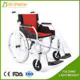 24 кресло-коляскы перехода складчатости колес дюйма алюминиевых светлых