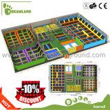 Парк Trampoline коммерчески изготовленный на заказ занятности прямоугольный крытый