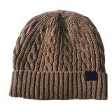 メンズレディース男女兼用ケーブルはねじった帽子の印刷によって編まれた冬の暖かい帽子の厚い帽子(HW415)を