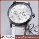 Relógio das mulheres simples do relógio da liga com faixa de couro
