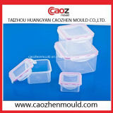 Moulage rond de conteneur de nourriture de blocage de blocage d'injection en plastique