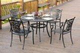 정원 가구 금속 테이블과 의자