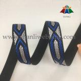 sangle élevée de jacquard de polyester de ténacité de 28mm Colorized pour des chaussures