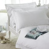 Hotel de luxo Textile Cotton 100% White Hotel Bed Sheet Set e Beddings Set