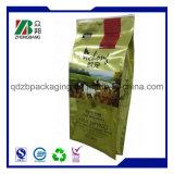 Bolso lateral plástico aprobado por la FDA del conjunto del alimento de animal doméstico del escudete
