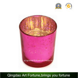 Votive Candle를 위한 금속 Lid Glass Candle Container