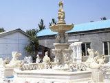 Fontaine d'eau en pierre extérieure pour décoration de jardin