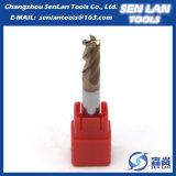 Твердая торцевая фреза карбида HRC45/55/60/65 для подвергать механической обработке CNC