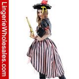 Halloween-Partei-Abendkleid-reizvolles Pirat Cosplay Kostüm der Frauen