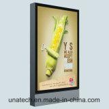 Publicité extérieure DEL de bas-côté mettant en rouleau les annonces verticales Lightbox de panneau-réclame polymère de vinyle