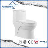 Um toalete dianteiro redondo cerâmico nivelado duplo da bacia da parte (ACT7005)
