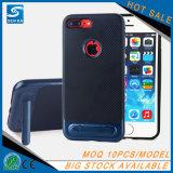 Housse de téléphone en fibre de carbone TPU Slim Armor PC + couverture arrière TPU pour Samsung Galaxy S8 S8plus