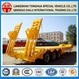 3 Aanhangwagen van de Vrachtwagen van Lowboy van het Bed van assen de Lage Semi