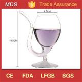 Vidro de vinho vermelho elevado do vampiro do Borosilicate com palha bebendo da câmara de ar